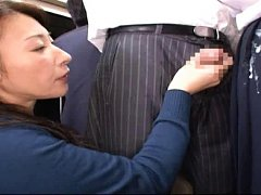 Jav Asian gal is roughly doggy screwed in bus with...