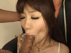 Jav Asian babe with long socks is fingered while s...