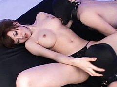 Jav Asian babe puts two men ass in ass and undress...