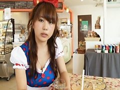 Mai Nishida Asian takes Snow White dress and shows...