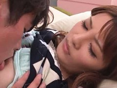 Jav Asian babe has titties licked and gets cum fro...