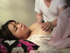 Jav Asian doll sleeps with big boobs naked and get...