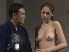 Jav Asian doll with legs in ropes has vibrators in...