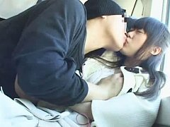 Jav Asian cupcake is kissed and touched on chest b...