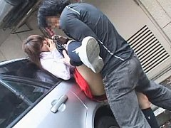 Jav Asian honey is roughly fingered and screwed in...