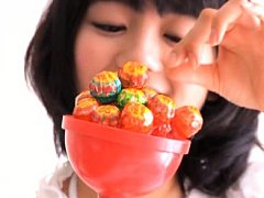Suzuka Morita Asian in sexy lingerie loves to lick...