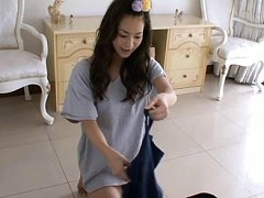 Hitomi Sakai Asian takes clothes off and is naught...