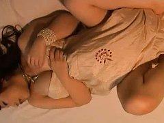 Ayumi Sakura Asian shows big knockers in bra with...