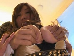 Jav Asian gal has big hooters roughly fondled and...