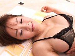 Shoko Shibata Asian has round big boobs massaged o...