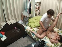 Jav Asian doll is recorded on camera having her pu...