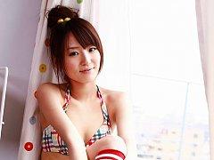 Yukari Sato looks incredibly cute in her skimpy bl...