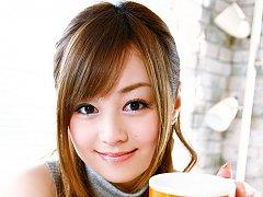 Beautiful Jun Natsukawa in a cute business suit an...