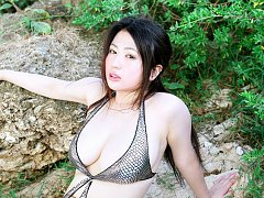 Big breasted gravure idol hotties boobs spill out...