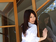 Mahiro Aine Asian in uniform gets out of home and...