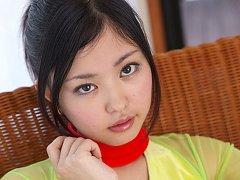 Nagisa Matsayama in gymnastics body plays and move...