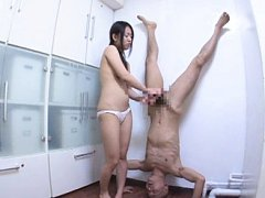 Jav Asian doll strokes boner of fellow sitting ups...