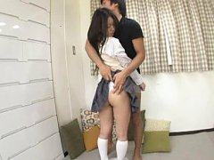 Jav Asian doll has nasty ass fondled by dude under...