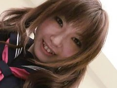 Jav Asian doll in uniform gives blowjob and gets d...