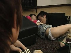 Jav Asian doll is undressed and teased next to ano...