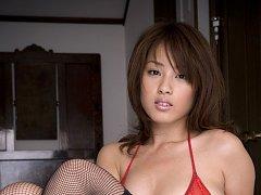 Ayaka Noda Asian in stockings shows generous asset...