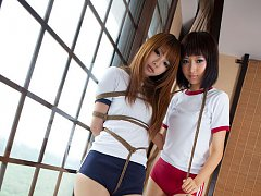 Dimdim Asian and nasty babe have boobs and hands t...
