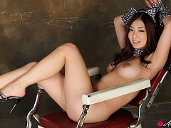 Minori Hatsune Asian takes dress off and shows nau...