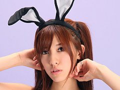 Mana Mizuno Asian bunny shows naughty behind in fi...