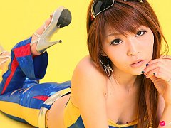 Minami Haduki Asian busty is hot cupcake in blue l...