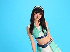 Tsukasa Arai Asian is sexy steward in short skirt...