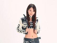 Miki Sakai Asian looks so appetizing in latex shor...