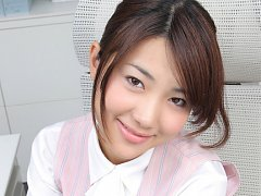 Naoho Ichihashi Asian in fancy outfit sits with as...