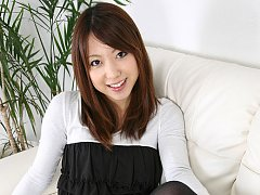 Kaori Yokoyama Asian with cute smile presents her...