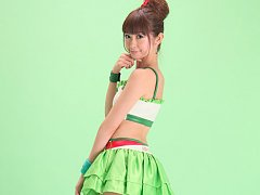 Zuo Qi Asian doll in fluffy skirt and long boots i...