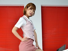 Ichika Nishimura Asian is such elegant lady in off...