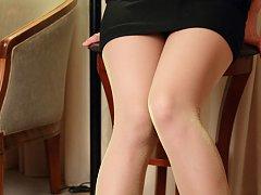 Kurumi Kisaragi Asian in short skirt is very proud...