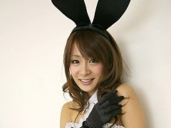 Yuki Aikawa Asian with fishnet stockings and ears...