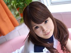 Manami Sato Asian in sports equipment can´t wait...