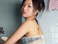 Mayumi Yamanaka Asian spoils body with shower over...