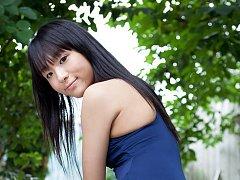 Miho Morita Asian exposes hot butt in bath suit ou...