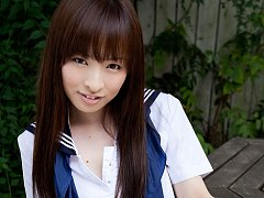 Maho Kimura Asian undresses school uniform right i...