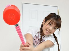 Mizuho Shiraishi Asian with uniform and pigtails p...