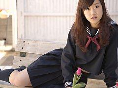 Teen Kana Yuuki is schoolgirl with nice face and s...
