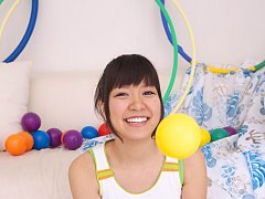 Ayana Tanigaki Asian takes clothes off while playi...