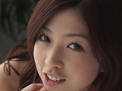 Azusa Togashi Asian has lovely smile, juicy bum an...
