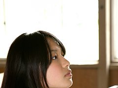 Tomoe Asian babe in uniform is happy in her way to...