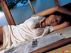 Sayaka Ogata Asian sexy doll is photographed in va...