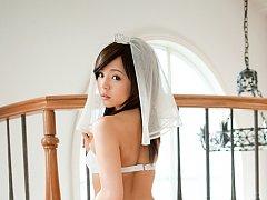 Runa Hamakawa Asian naughty bride exposes her appe...