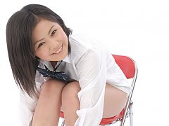 Adorable asian school girl takes off her clothes t...