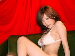 Long haired asian angel showing off her deliciousl...